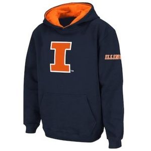 Fighting Illini hoodie, size M, like new condition